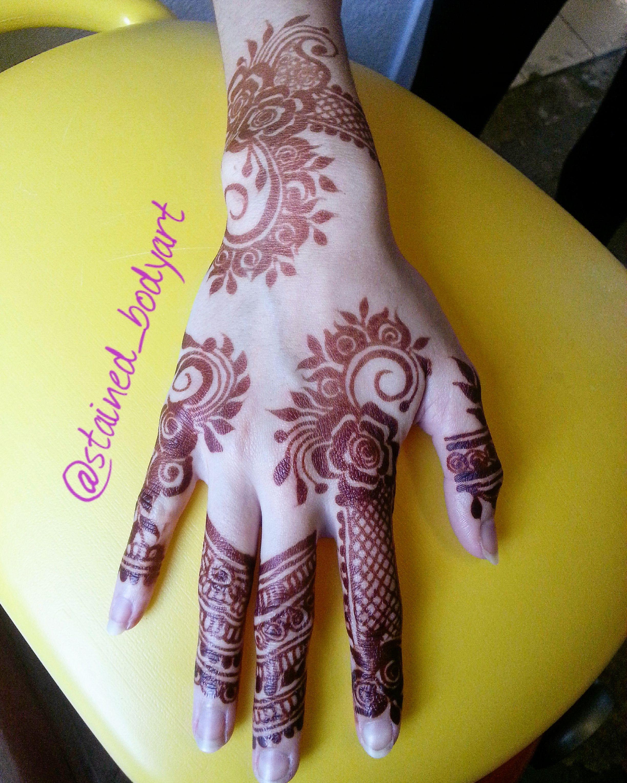fresh henna stain one day old ) Florida Henna designs