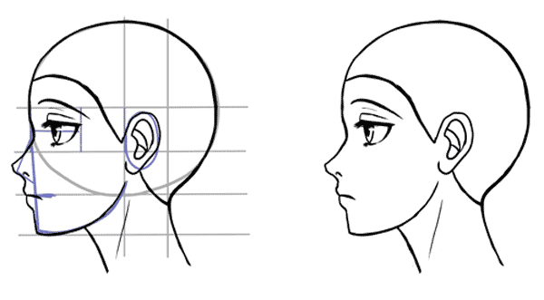 how to draw manga faces for beginners
