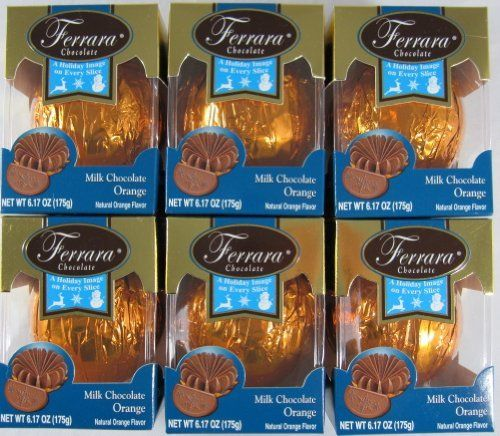 Ferrara Chocolate - Milk Chocolate Orange Ball (Pack of 6). This is a perfect Easter Basket filler. I love these chocolate oranges.