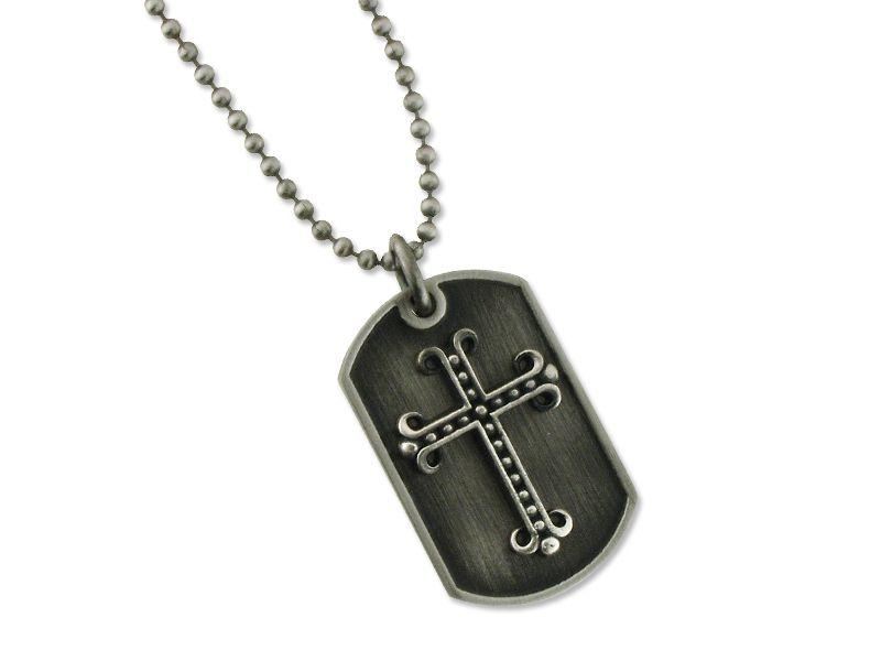 195d7b4fc15c  Collar cruz de Acero envejecido