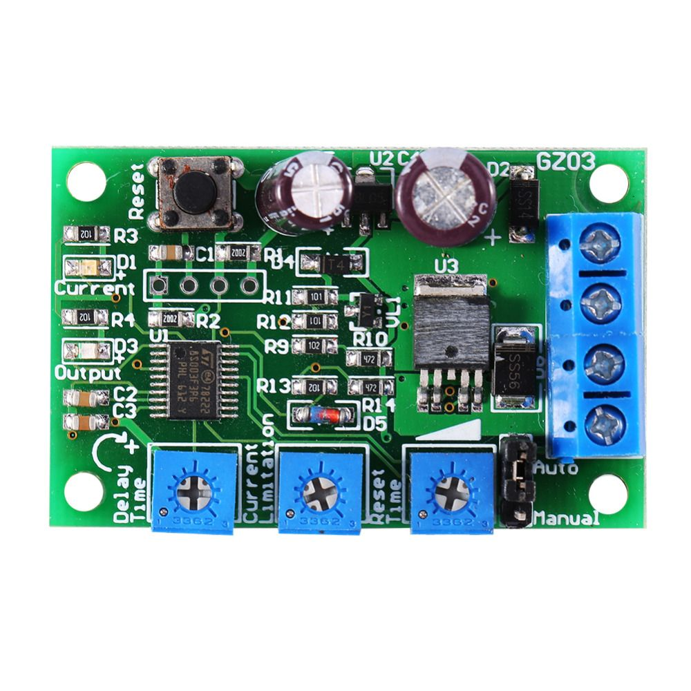 Dc 6 V 28 V Input Motor Over Current Protector Switch Short Circuit Overload Protection Module Circuit Protection Current