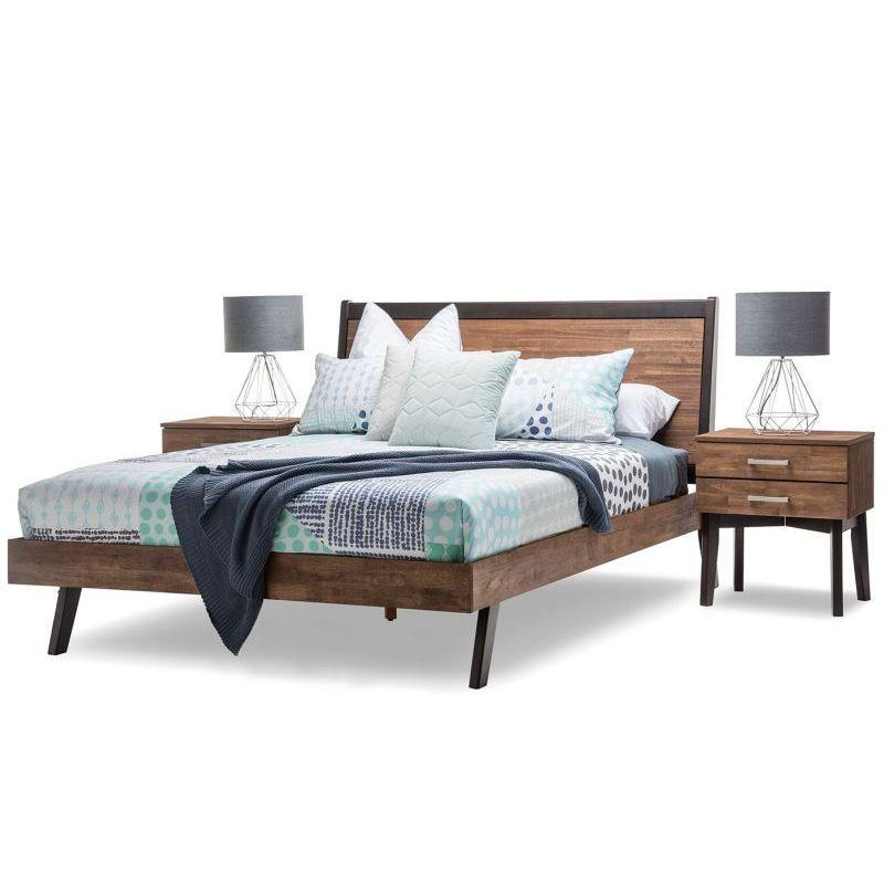 Selena Queen Bed Frame In Caramel Dark Chocolate Queen Bed Frame Bed Frame Queen Size Bed Frames Queen bed with mattress included