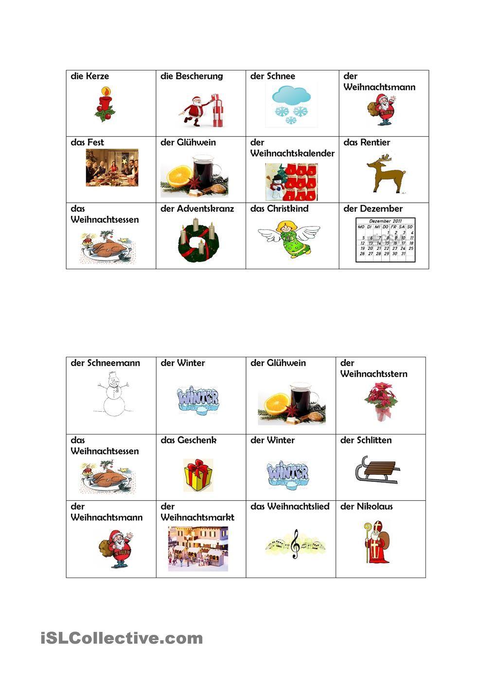 weihnachtsbingo deutsch weihnachtsbingo bingo und. Black Bedroom Furniture Sets. Home Design Ideas