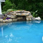 Landscape Masonary Supplies Featured Project Wyckoff Nj Landscape Projects Decorative Gravel Pool Coping