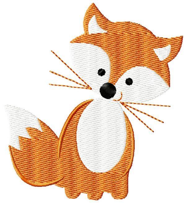 4x4 filled stitch cute little fox woodland forest friends machine