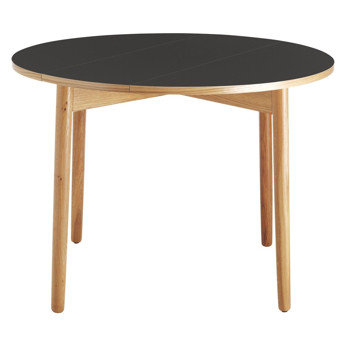 SUKI 2 4 Seat Black Folding Round Dining Table