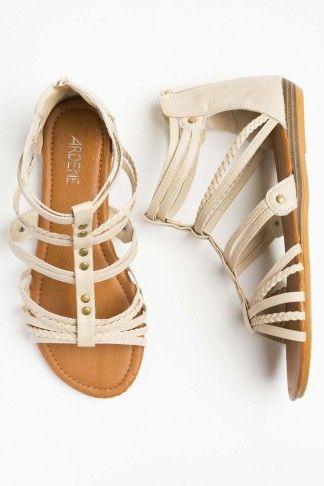 Short gladiator sandals   Short gladiator sandals, Gladiator