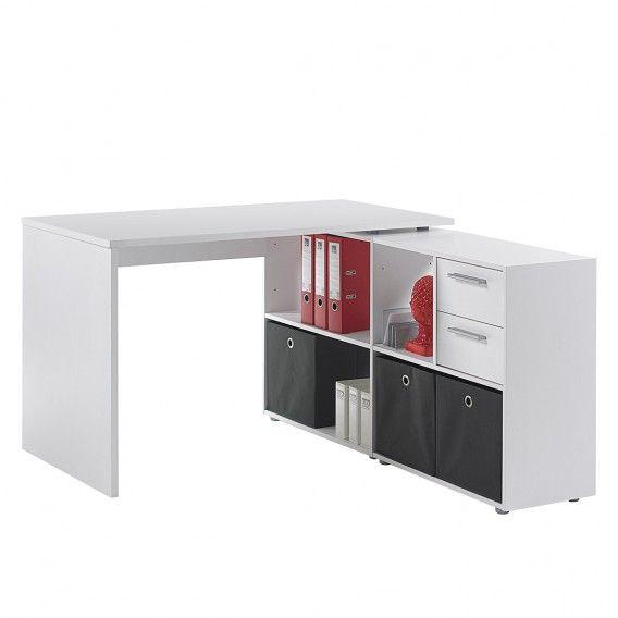 Schreibtisch Winkelkombination Wallstreet 2 Teilig Weiss Home24 Schreibtisch Winkelkombination Schreibtisch Und Tisch