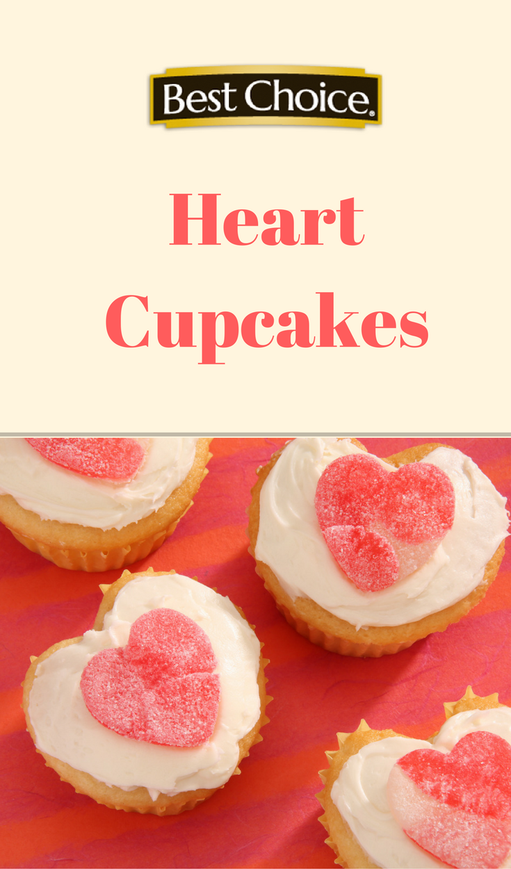 Recipe Video: watch how to make these cute Heart Cupcakes - the perfect sweet treat for your sweetie on Valentine's Day!