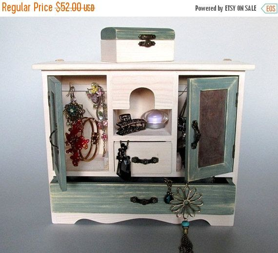ON SALE Jewelry Organizer Jewelry Box Armoire by EcoWoodenArt home