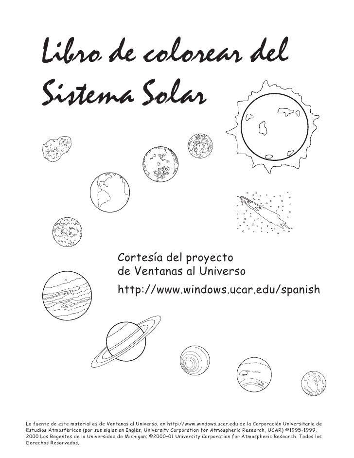 Dibujos sistema-solar   ciencias   Pinterest   Sistema solar, Solar ...