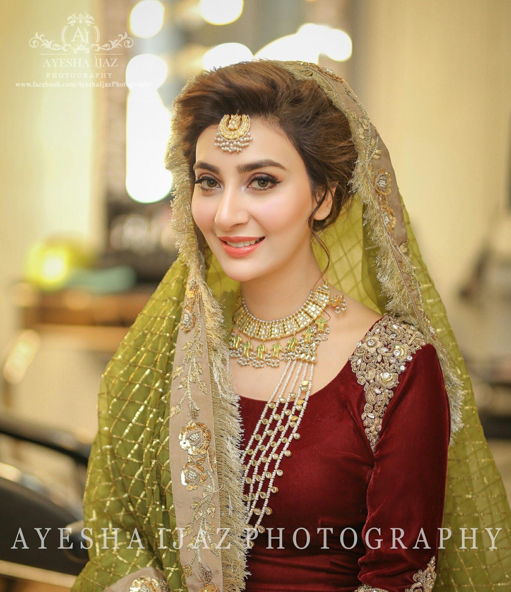 915f078228 Aisha Khan on her mehndi #pakistaniweddings #aishakhan #bridal #bride