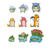 Le Charmander And Bulbasaur Evolution Chart Shirt T Spreadshirt Id 8715309