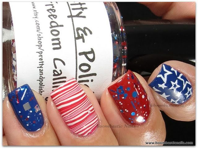 4th Of July Or Memorial Day Nail Nails Nailart