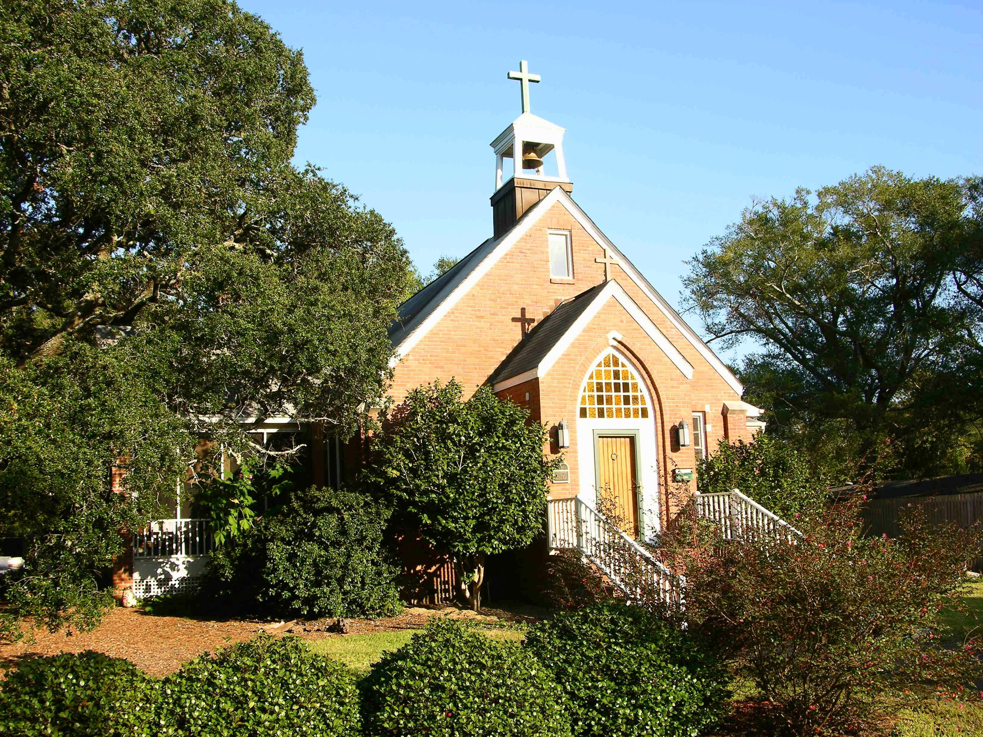 Historic Church in Southport, NC. Old churches