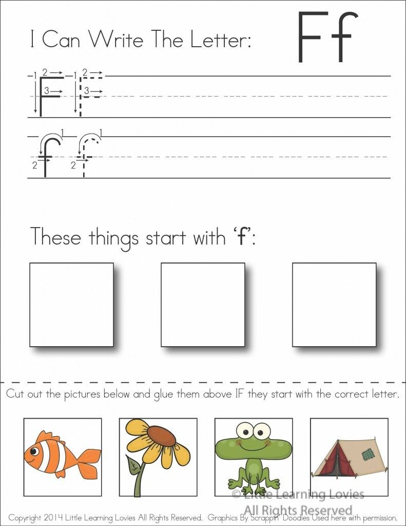 Worksheets Free Cut And Paste Worksheets subscriber exclusive freebie letter f write cut paste paste