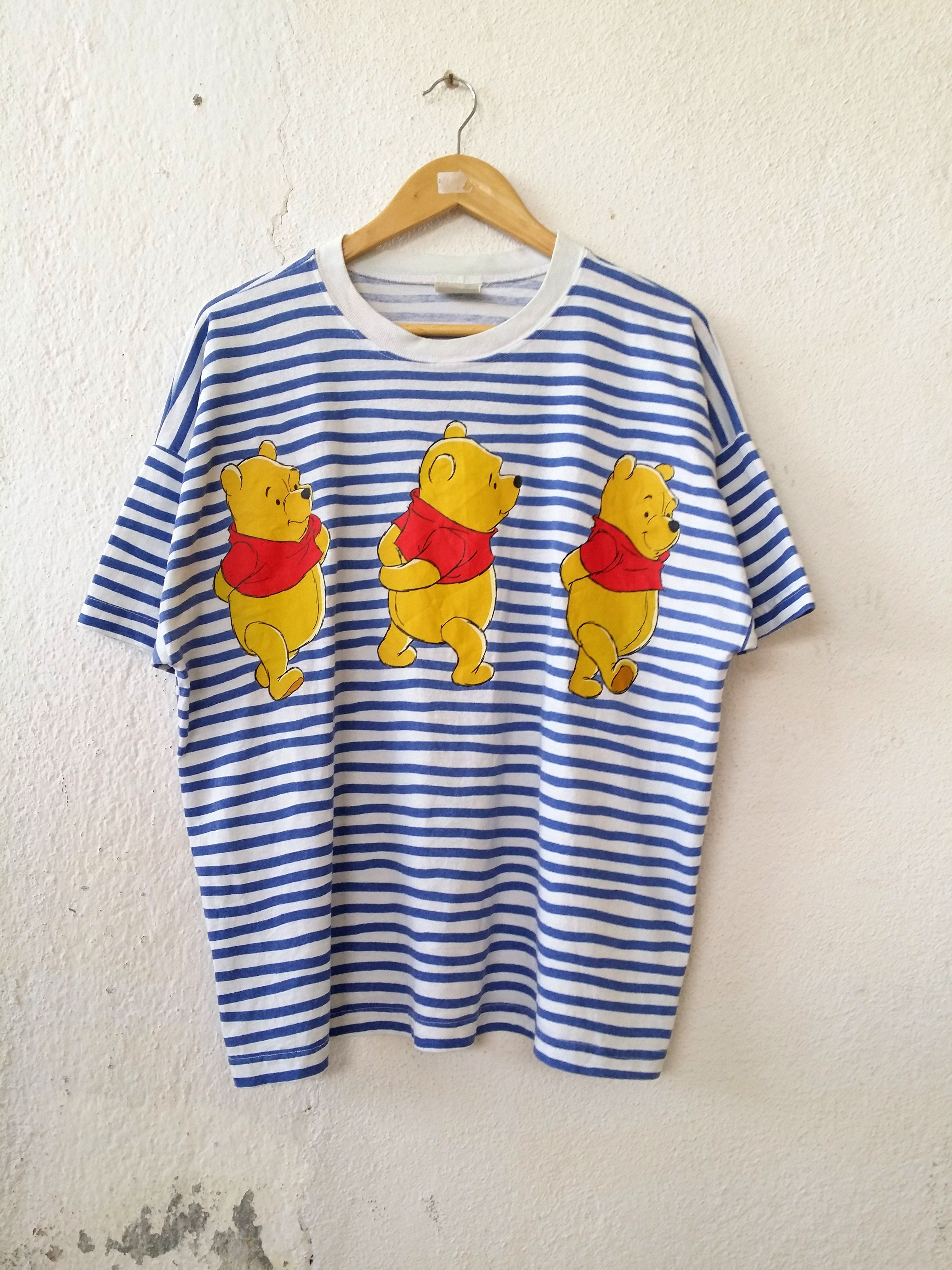 45e9b7850b0a Winnie Pooh Shirt DISNEY s Striped Tee Streetwear Size XL ...