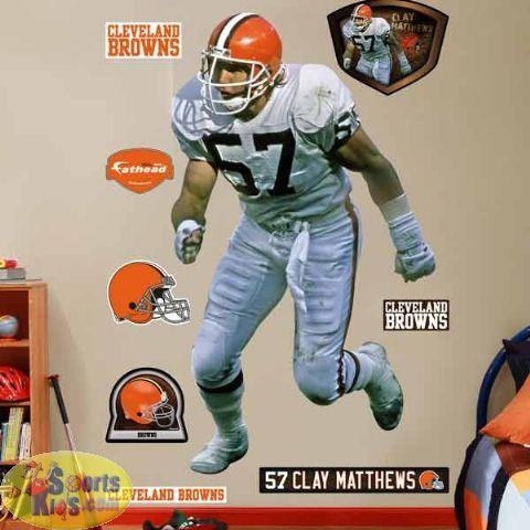 460e0a330fe6ec Fathead Cleveland Legend Wall Graphic Cleveland Browns Football