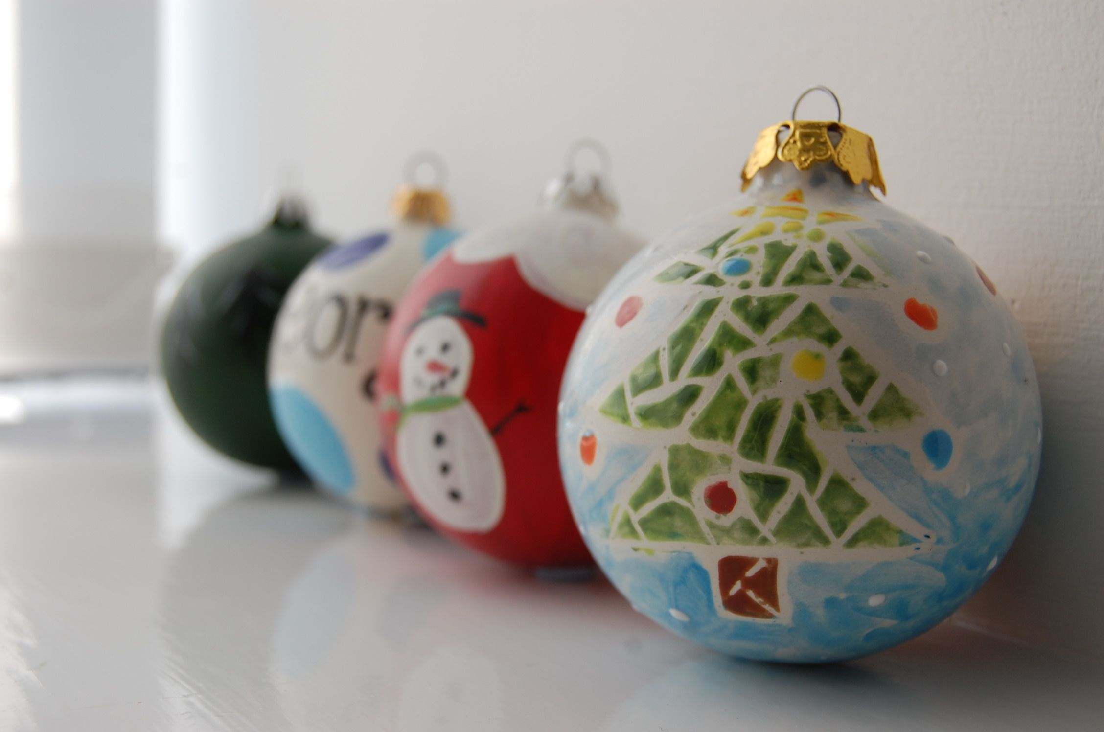 paint your own bauble ornament decoration these are our own brand pottery blanks supplied in white ready to paint - Paint Your Own Ceramic Christmas Decorations