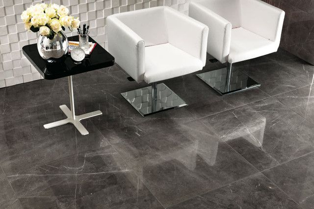 Contemporary Living Room On Italian Marble Floor Marble Floor Bathroom Interior Naturalstone Stone Tile Flooring Grey Marble Floor Italian Marble Flooring