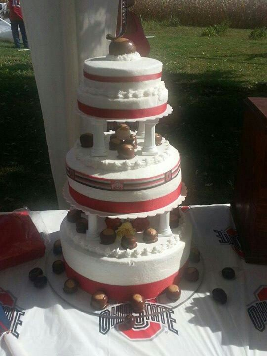 Ohio State Buckeye Wedding Cake The Best There Ever Is