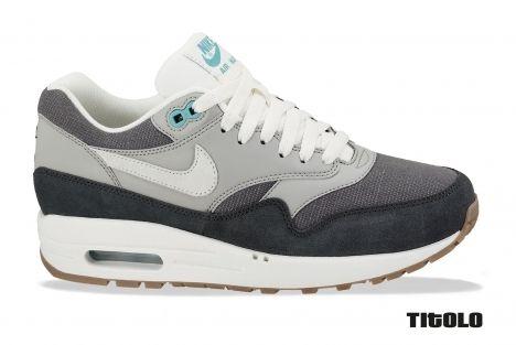 64c82b7d1c Nike Womens Air Max 1 Vintage - Dark Grey/Sail-Medium Grey-Anthracite