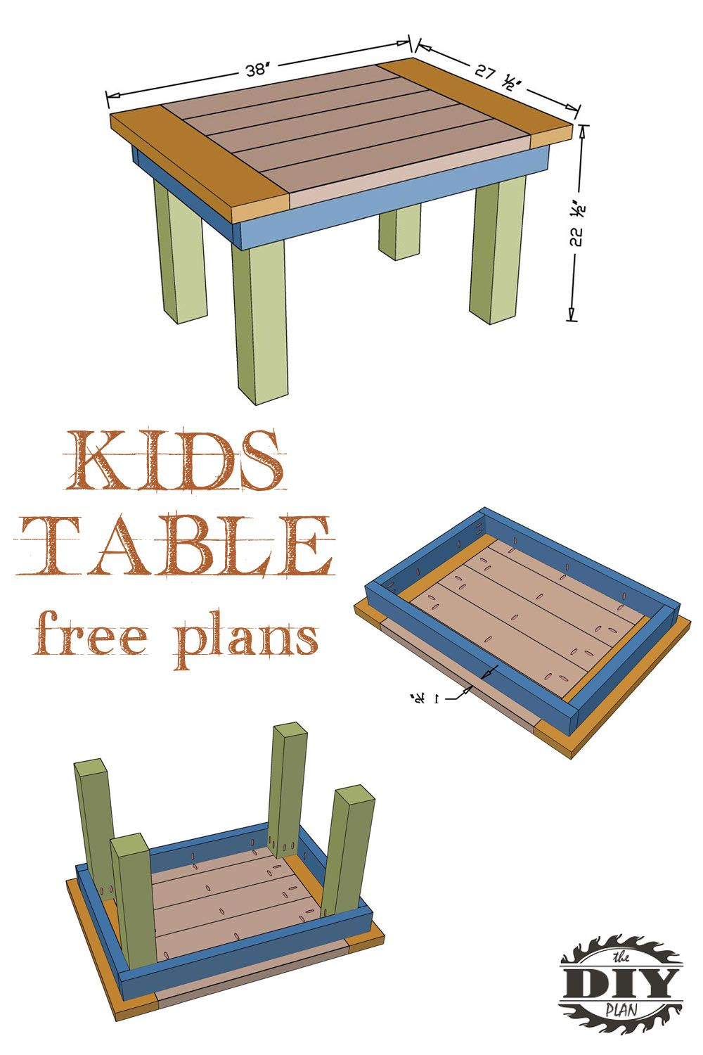 How to make DIY Kids Table - Free Plans (With images ...