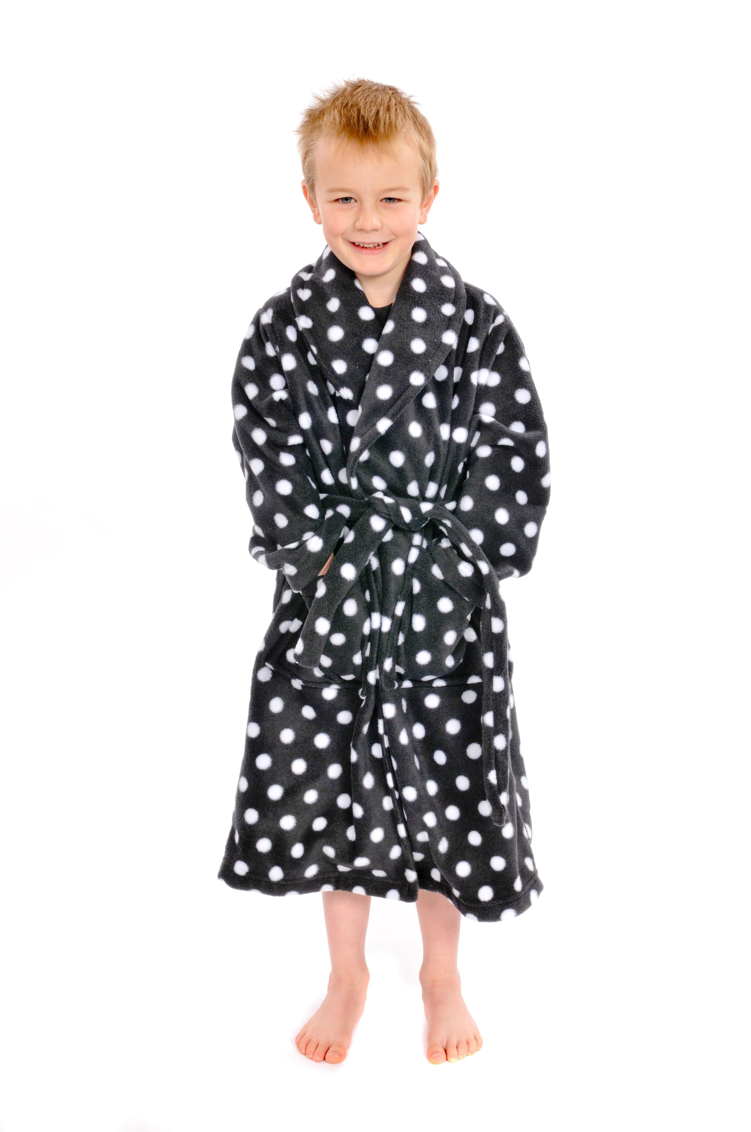 Thick polar fleece dressing gown - unisex | Snuggly Dressing gowns ...