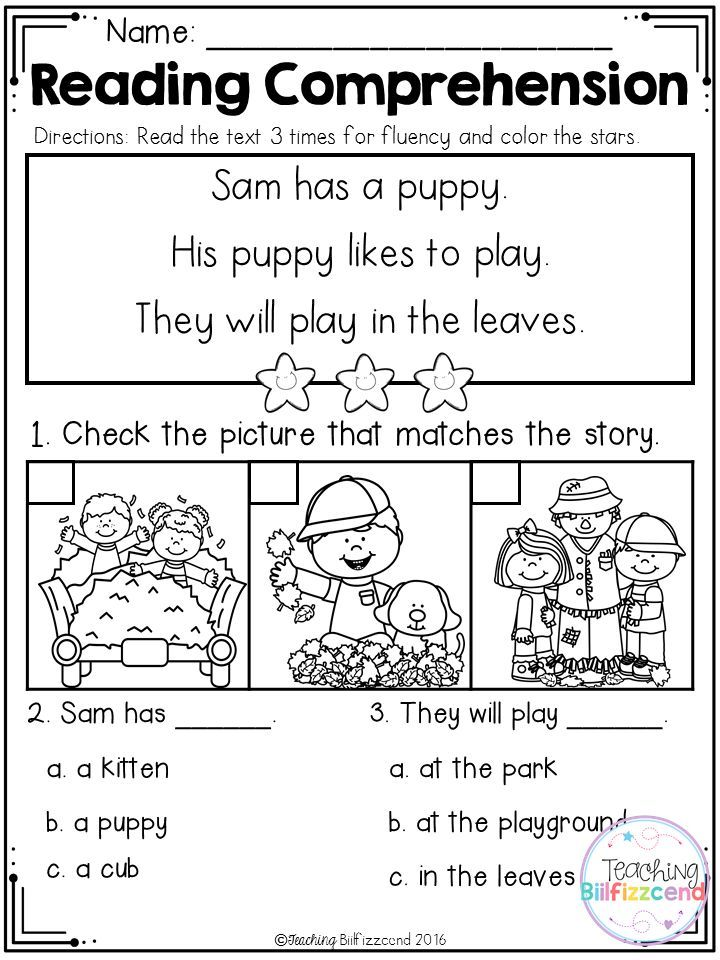 Inside You Will Find 25 Kindergarten Reading Comprehension Passages These Readin Reading Comprehension Kindergarten Reading Comprehension Kindergarten Reading Read and color comprehension worksheets