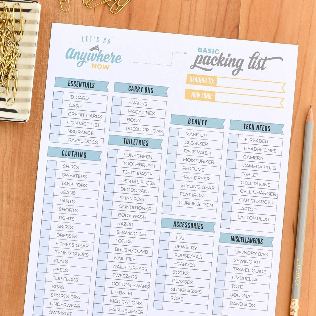 This Free Printable Packing List Is Designed To Help You