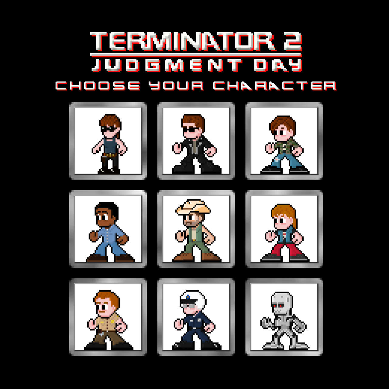 T shirt poster design - The Complete Terminator 2 Judgment Day Character Collection As Well As T Shirt Poster Designsa