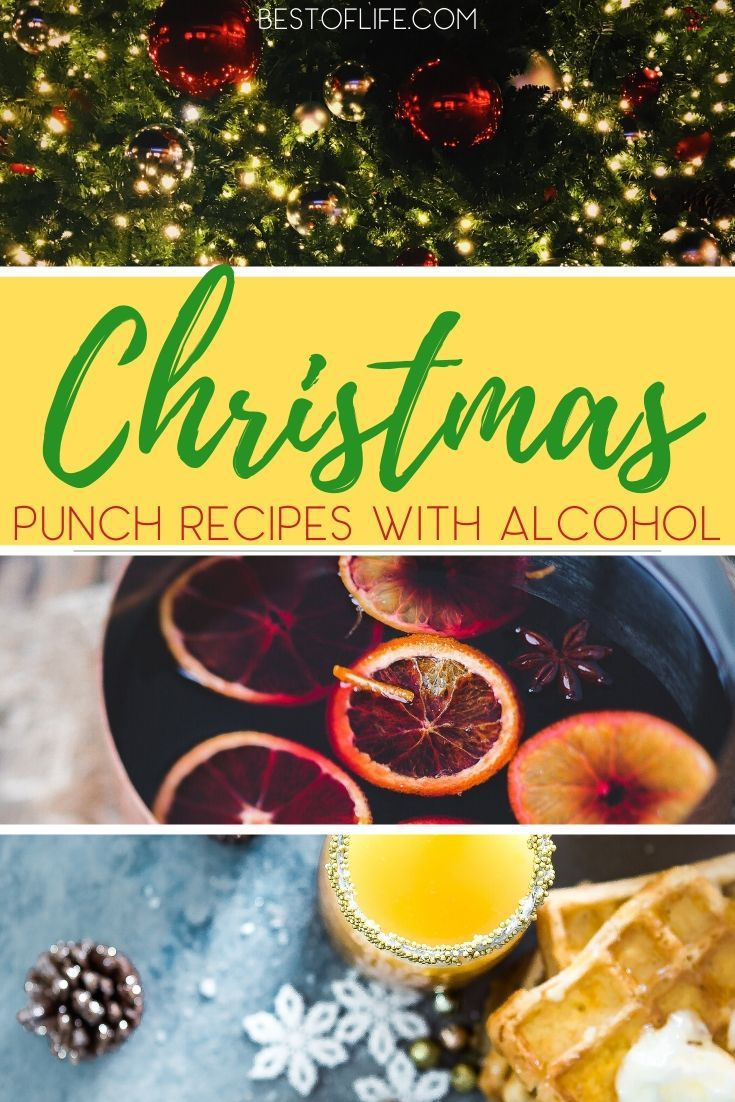 Christmas Morning Punch Recipes with Alcohol #christmasmorningpunch