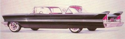 A sketch for the new-generation 1957 Packard Four Hundred hardtop coupe.