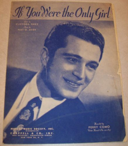 Vintage Sheet Music - If You Were the Only Girl 1929