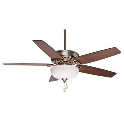 Casablanca Concentra Gallery 54 In Indoor Brushed Nickel Ceiling Fan With Light 54023 The Home Depot Ceiling Fan Fan Light Ceiling Fan With Light
