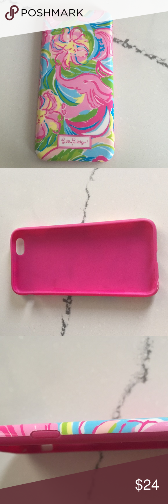 Lily Pulitzer iPhone 6 6s so . make an offer! elephants and flowers pink green blue yellow so  A pealing Lily Pulitzer Accessories Phone Cases