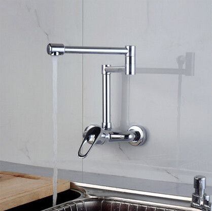 Chrome Single Handle Pull Out Centerset Wall Mounted Mixer Kitchen ...