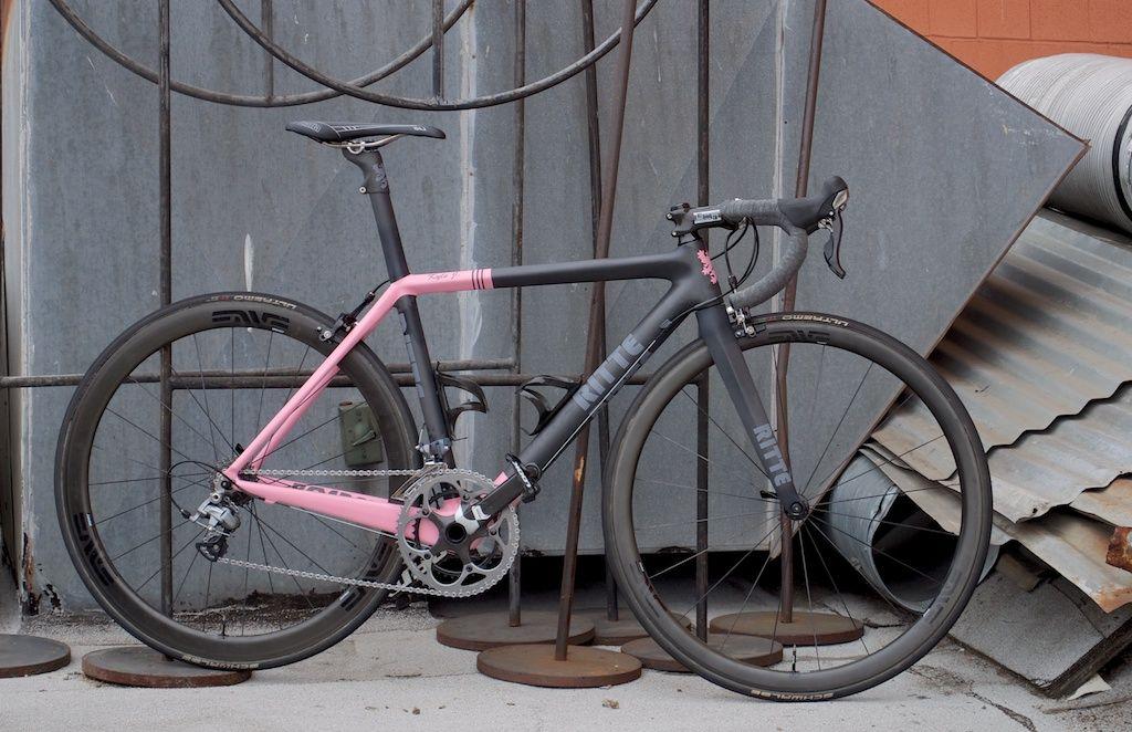 Ritte Bosberg In Matte Black Pink Bicycle Paint Job Road Bike