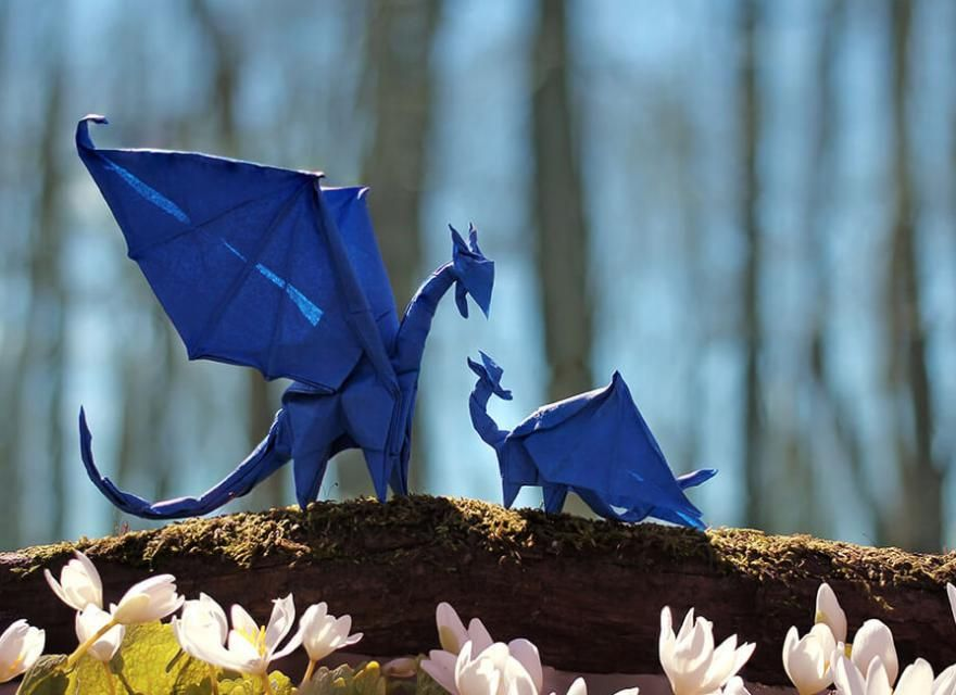 how to make an origami dragon using origami paper