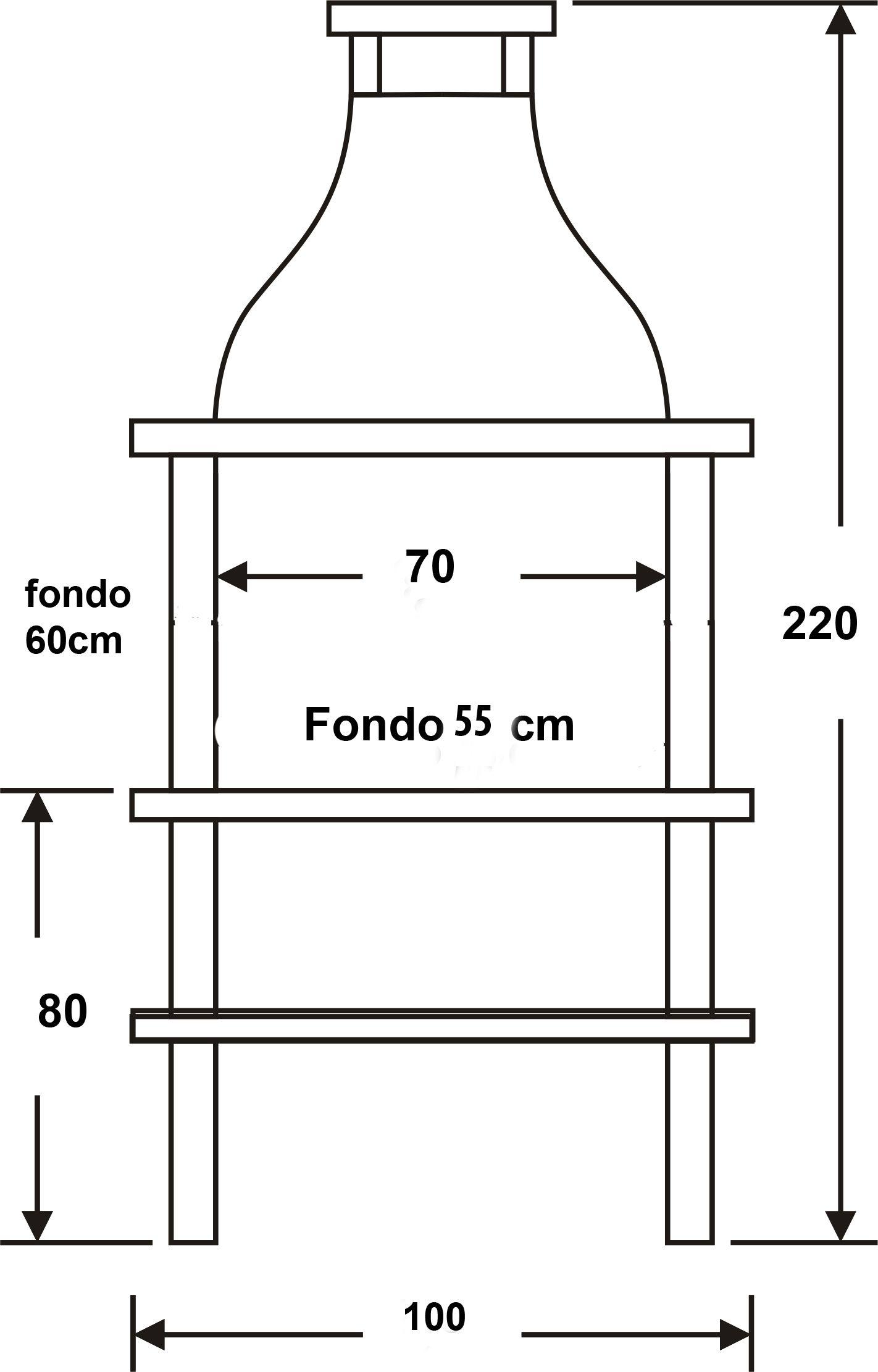 Medidas barbacoa elegant 41001 ogrod barbecue design - Como construir una barbacoa de obra ...