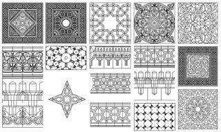 زخارف اسلامية بصيغة الاتوكاد Dwg برابط مباشر Islamic Pattern Islamic Mosaic Mosaic Patterns