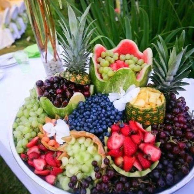 Wedding Reception Food Trays: Fruit Display :)