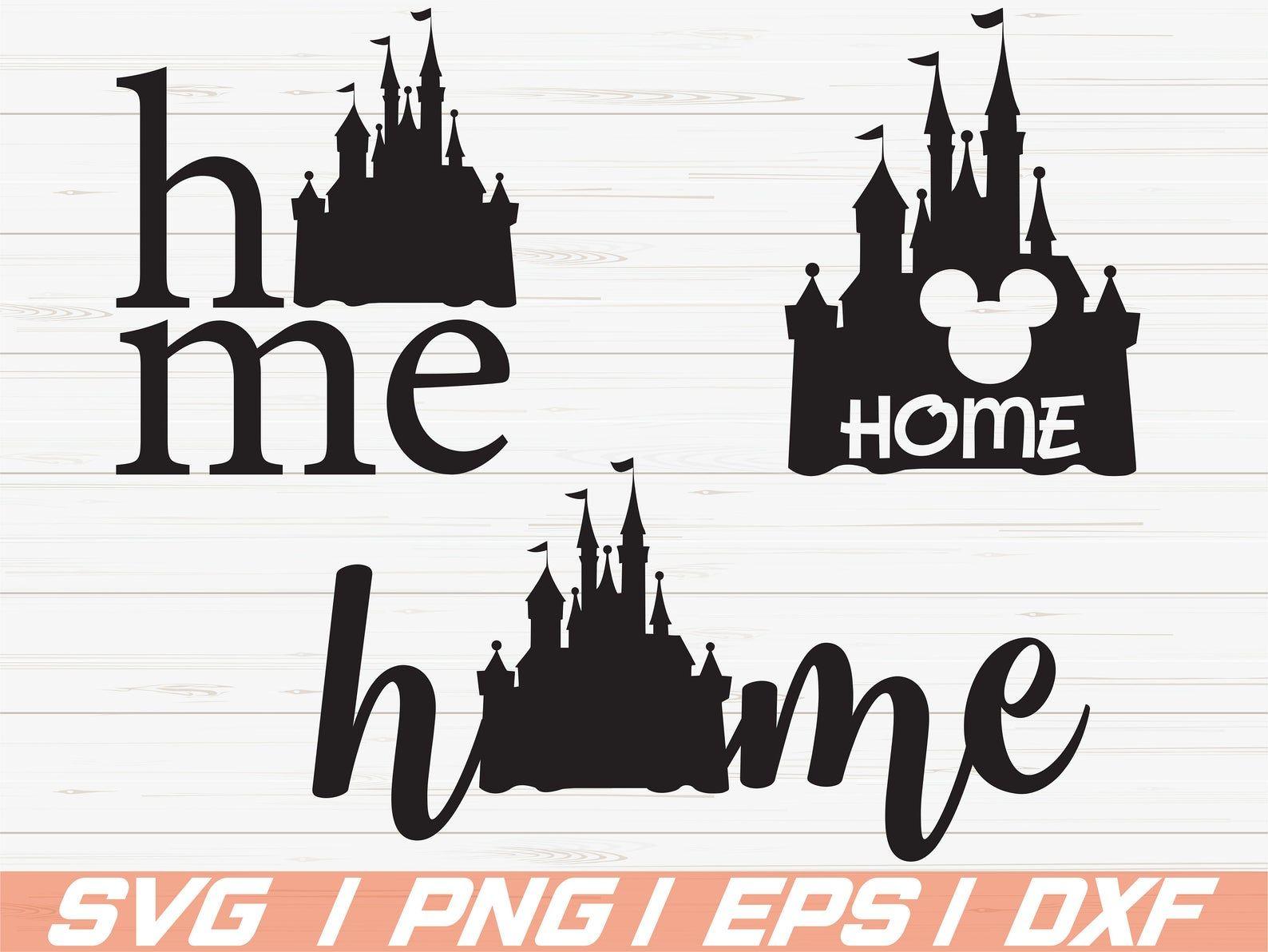 Disney Home Bundle SVG / Disney Castle Home Svg / Disney
