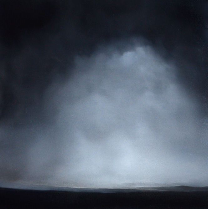 """Matthew Metzger. Sublime in the Old Sense. Oil on panel, 24.5"""" x 24"""""""