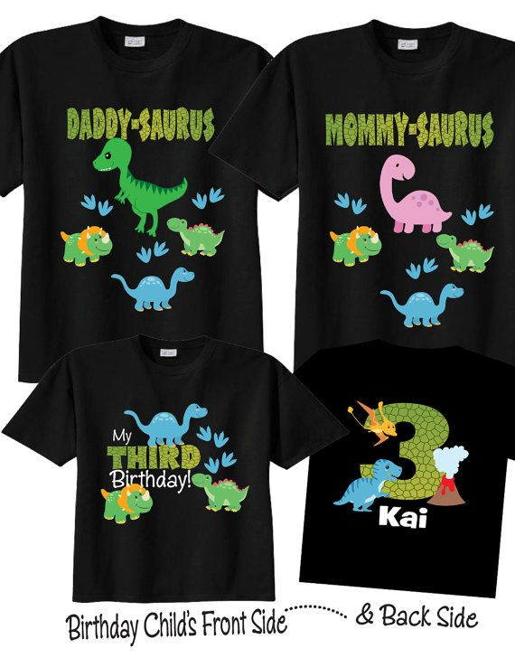 3rd Birthday Shirts With Dinosaurs Family By TheCuteTee