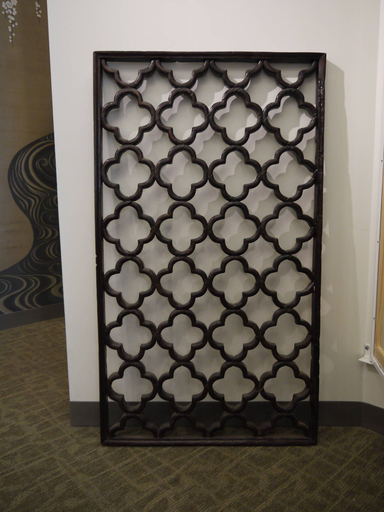 19th Century Chinese Lattice Window Panel | Window panels ...