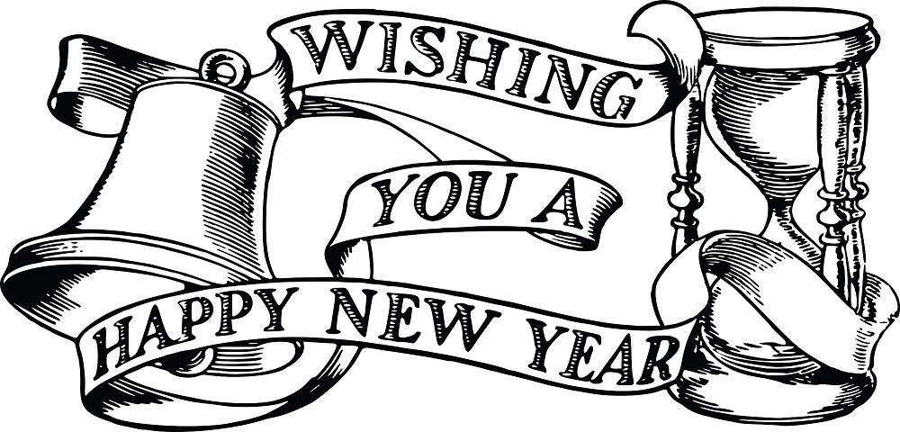 Happy New Year 2019 Clipart Black And White Happynewyear Happynewyear2019 Happynewy Happy New Year Wallpaper Happy New Year Background Happy New Year Images
