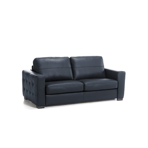 Metro Lane Dallas Genuine Leather Fold Out Square Arms Sofa Bed