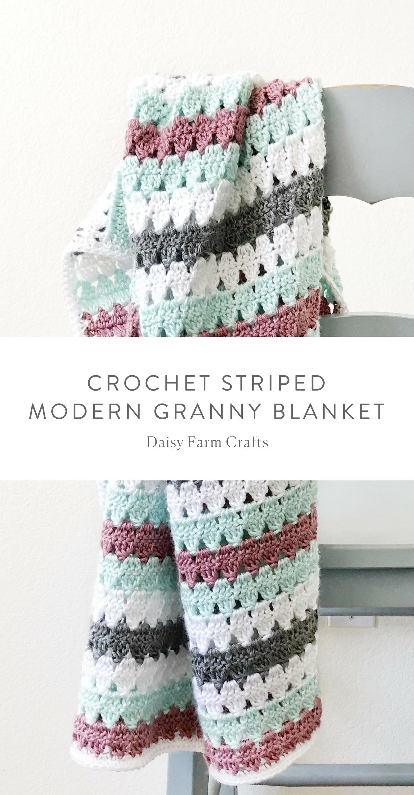 Asombroso Patrón De Rizo Doble Crochet Festooning - Manta de Tejer ...