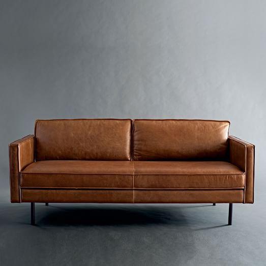 axel leather sofa west elm - Leather Sofa